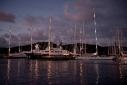 Yachts in Antigua Yacht Club Marina at night