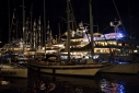Yachts at night in Antigua Yacht Club Marina during the Antigua Charter Yacht Meeting