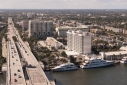 Yachts by SE 17th Street Bridge from Allur Shadow's helicopter