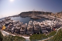 Fisheye, looking down on the Monaco Yacht Show