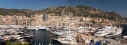 Panorama of Monaco Yacht Show from Fort Antoine