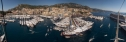 Panorama View of the Monaco Yacht show from the mizzen mast aboard Athene