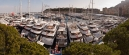 Panorama of yachts from the terrace of the Port Palace Hotel