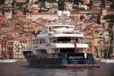 Trinity yacht Big City underway off Villefranche-sur_Mer