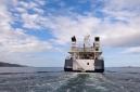 Hanse Explorer underway from the stern