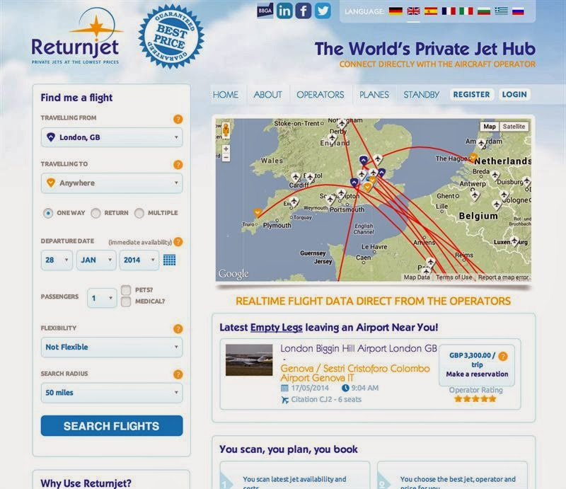 Returnjet Slashes The Cost Of Private Flights For Superyacht Charter Guests