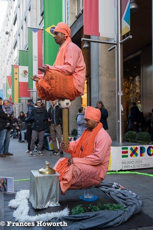 Trance balancing act in Milan
